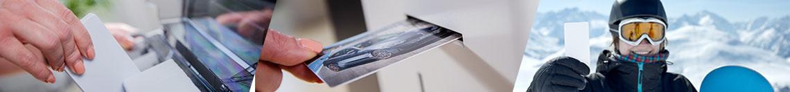 Plastikkarten bedrucken im Retransferverfahren