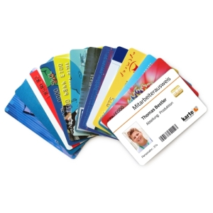 Plastikkarten mit Aufdruck