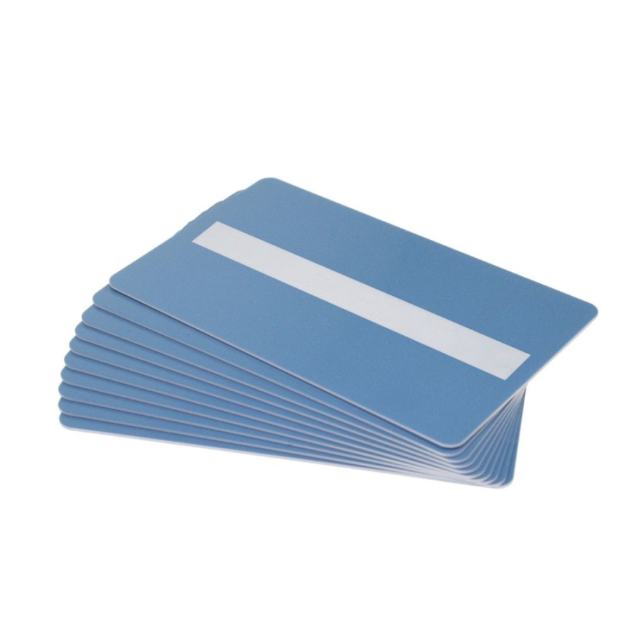 54 x 86 mm PVC Plastikkarten mit Magnetstreifen HiCo schwarz EC-Kartenformat